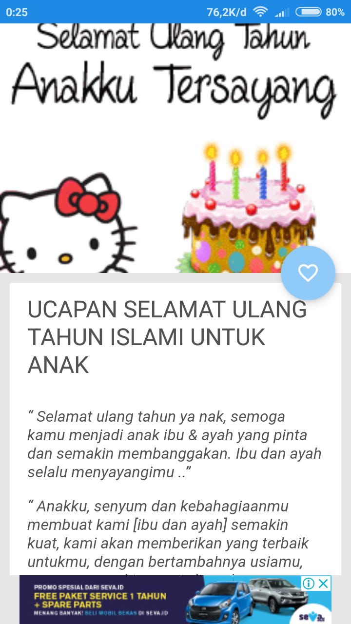 Ucapan Ulang Tahun Islami For Android APK Download