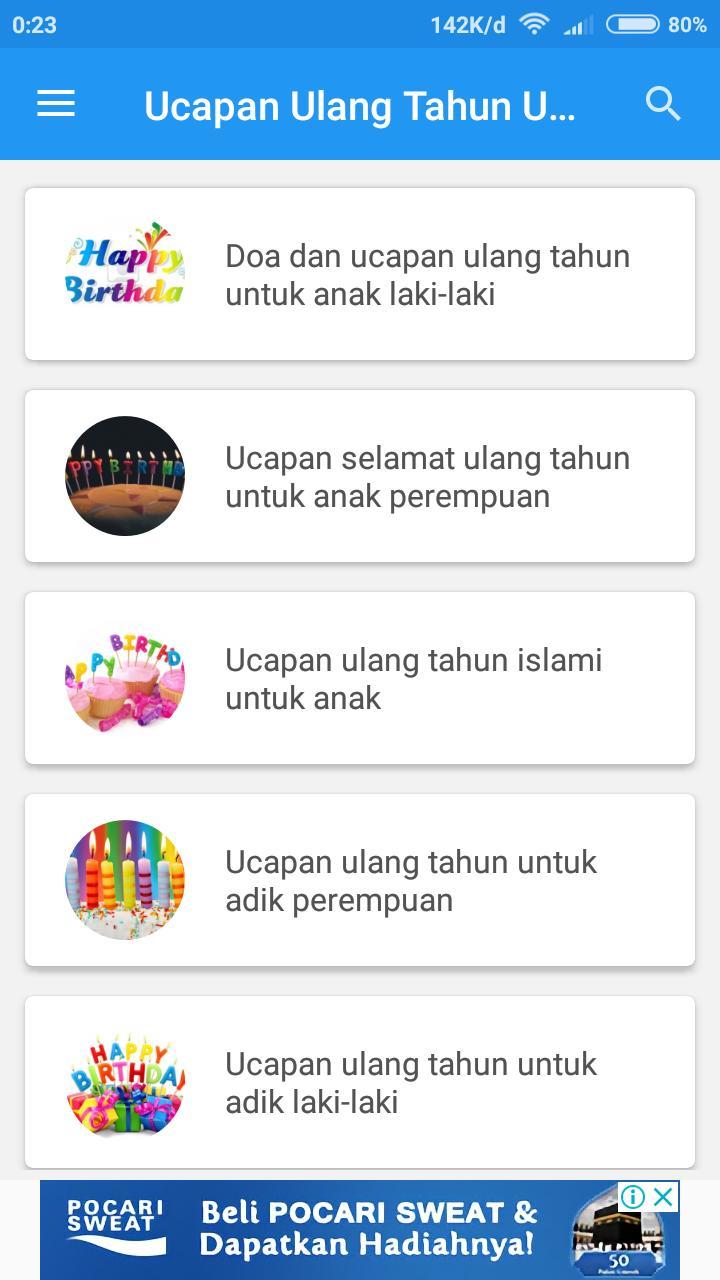 Ucapan Ulang Tahun Untuk Anak For Android Apk Download