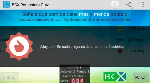 BCX POTASSIUM QUIZ apk screenshot