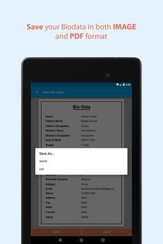 Bio Data Maker for Marriage apk screenshot