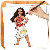Learn to Draw Moana NEW icon