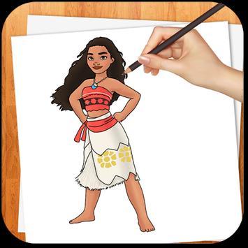 Learn to Draw Moana NEW apk screenshot