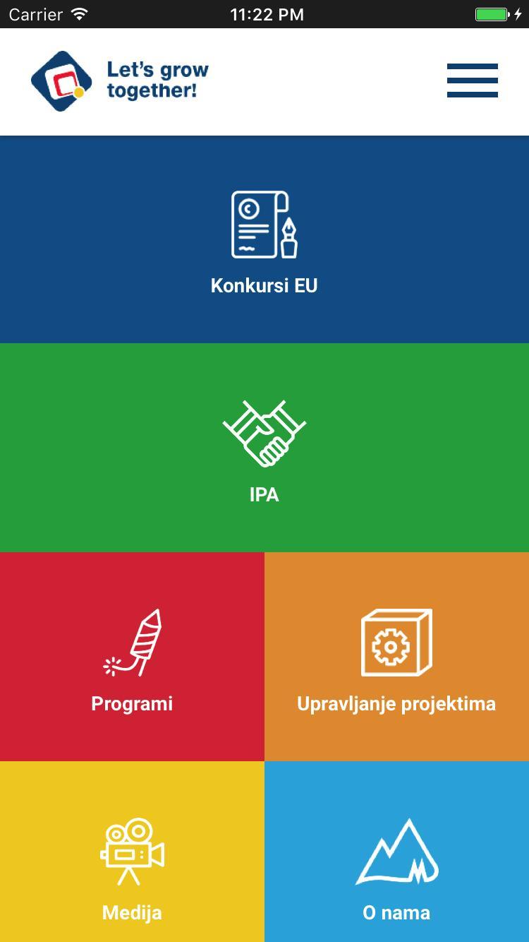 Programi podrške EU poster