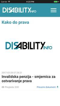 DisabilityInfo apk screenshot