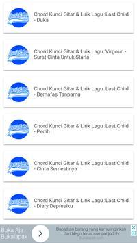 Chord Gitar Last Child (Kunci Gitar) apk screenshot