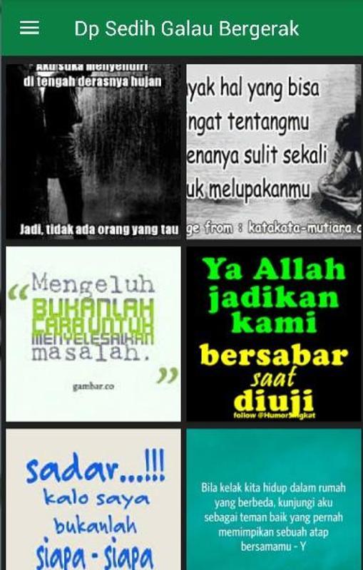 Dp Sedih Galau Bergerak For Android Apk Download