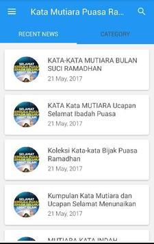Kata Mutiara Puasa Ramadhan poster