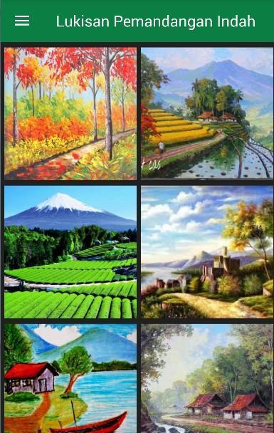 920+ Gambar Lukisan Pemandangan Bagus Terbaru