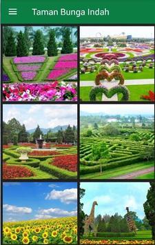 Gambar Taman Bunga Indah poster