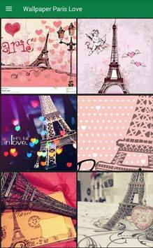 Wallpaper Paris Love Poster Apk Screenshot