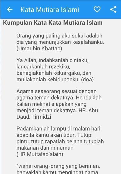 Kata Mutiara Cinta Bijak Islam Für Android Apk Herunterladen