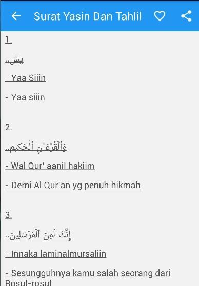 Surat Yasin Arab Latin Artinya For Android Apk Download
