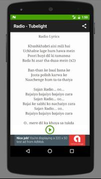 Songs TUBELIGHT - Salman Khan apk screenshot