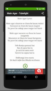 Songs TUBELIGHT - Salman Khan screenshot 2