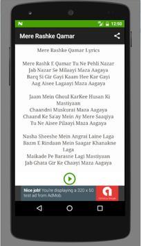 Mere Rashke Qamar song screenshot 1