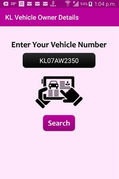 KL Vehicle Owner Details poster