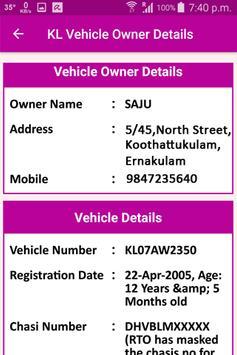 KL Vehicle Owner Details screenshot 1