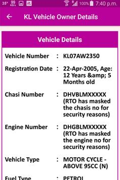 KL Vehicle Owner Details screenshot 2