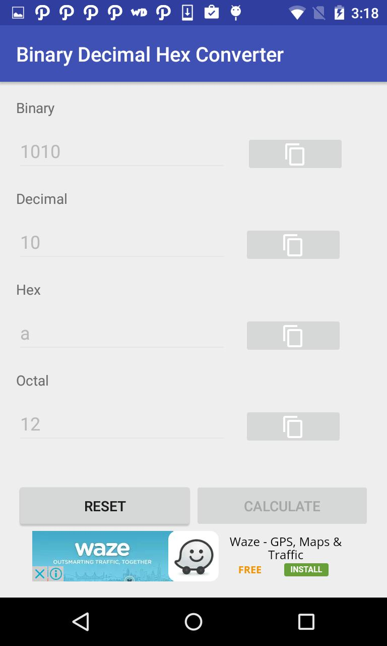 Binary Decimal Hex Converter for Android - APK Download