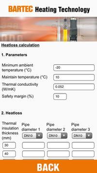 BARTEC HEATCALC apk screenshot