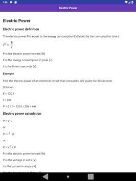 Electrical & Electronic Formulas apk screenshot