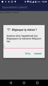 Sipariş Matik Caller ID screenshot 1