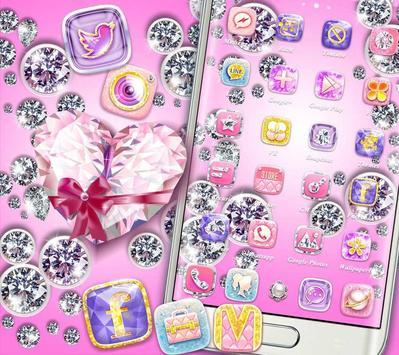 Bling Heart Diamonds Theme poster