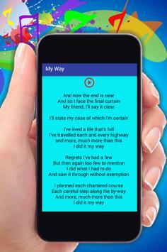 Frank Sinatra My Way Songs apk screenshot