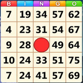 Bingo party icon