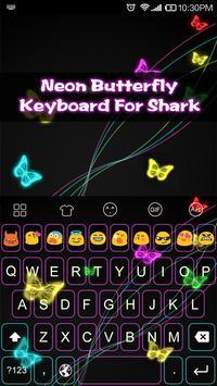 Emoji Keyboard-Neon Butterfly poster