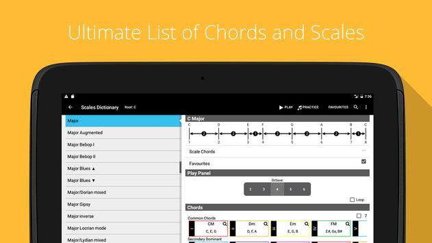 Piano Chords, Scales, Progression Companion PRO Ekran Görüntüsü 5