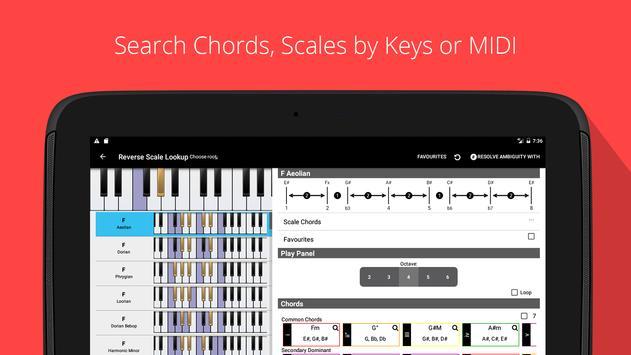 Piano Chords, Scales, Progression Companion PRO Ekran Görüntüsü 6