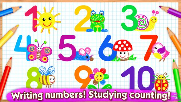 123 draw toddler counting for kids drawing games poster