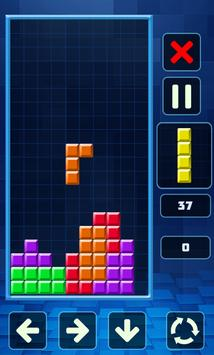 Retro Tetris Classic screenshot 1
