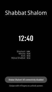 Shabbat Clock screenshot 1