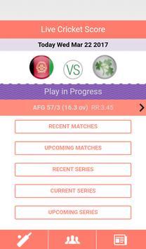Live Cricket Score screenshot 1