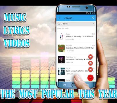 J Balvin - Top Musica+lyrics screenshot 3