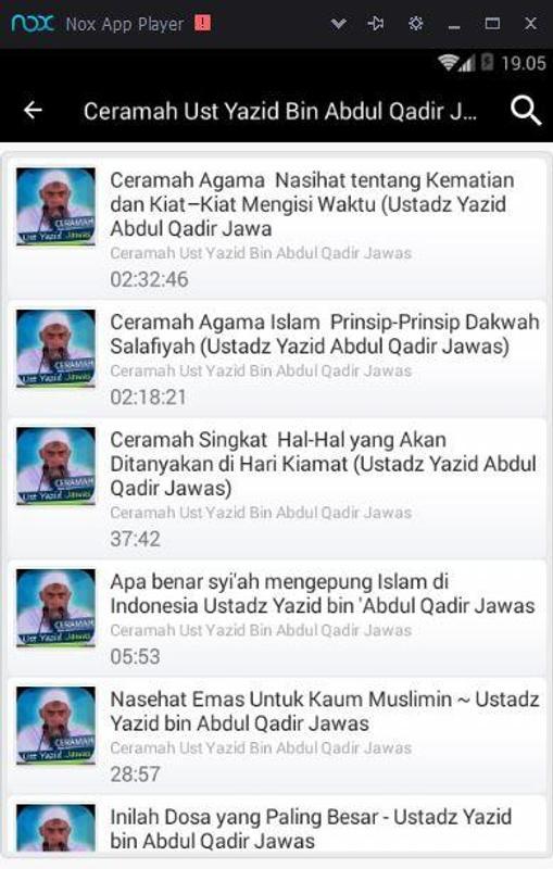 Ceramah Ust Yazid Bin Abdul Qadir Jawas For Android Apk Download