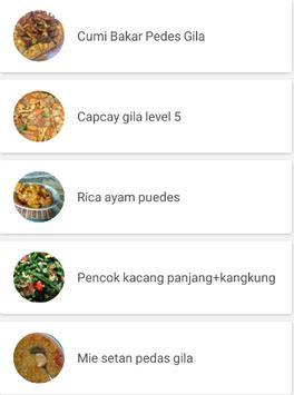 Resep Masakan Pedas Spesial screenshot 2