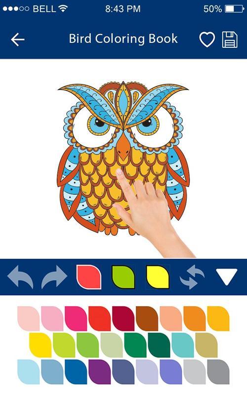 Buku Mewarnai Burung Permainan Mewarnai Burung For Android Apk