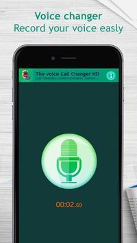 The voice call changer HD screenshot 1