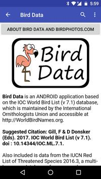 Bird Data screenshot 3