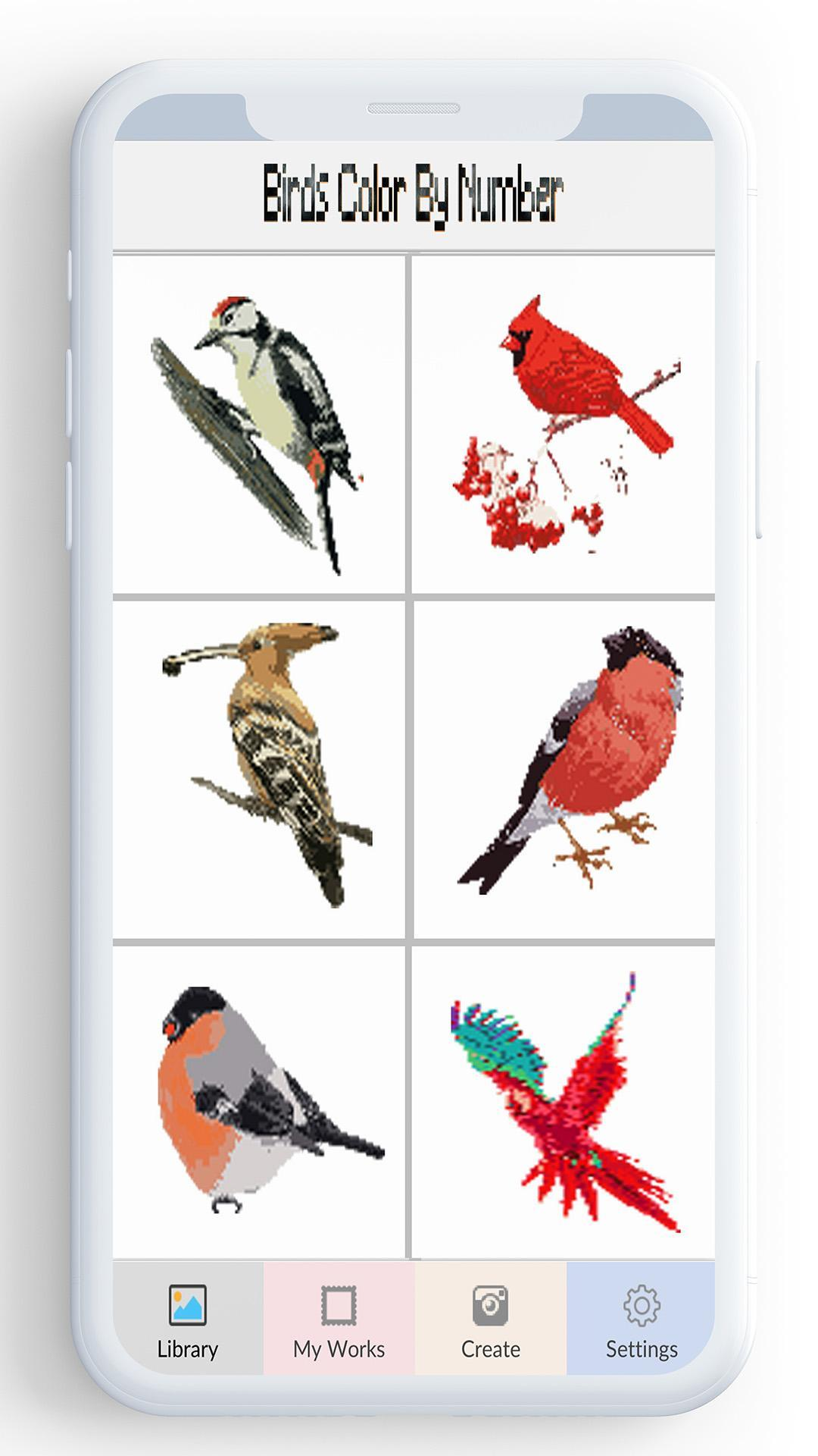 Birds Color By Number Pixel Bird Coloring For Android Apk