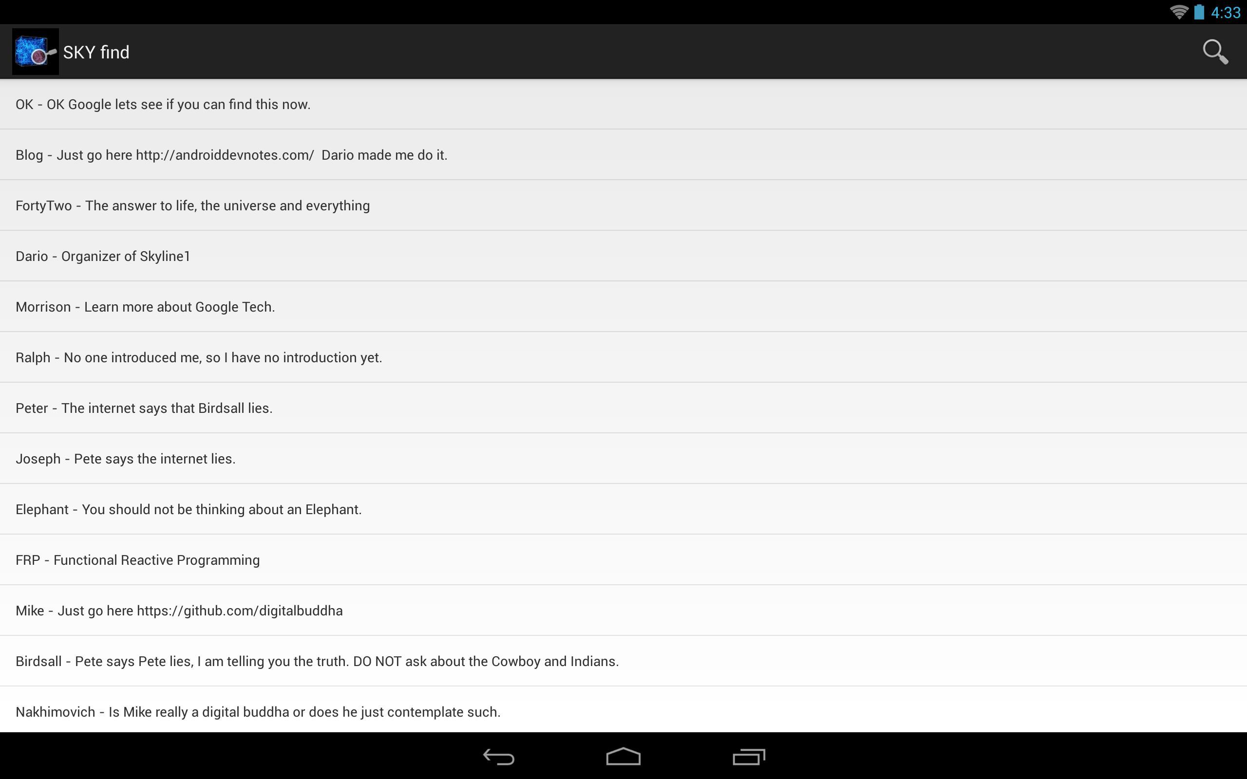 Sky find - Test OK Google for Android - APK Download