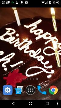 birthday cake live wallpaper apk screenshot