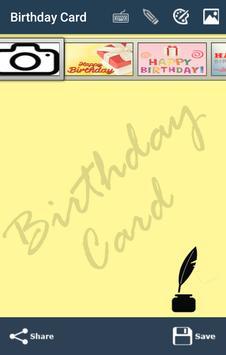 Happy Birthday Card &Wish quotes-Photo Frames 2017 screenshot 1