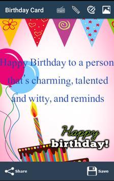 Happy Birthday Card &Wish quotes-Photo Frames 2017 screenshot 2