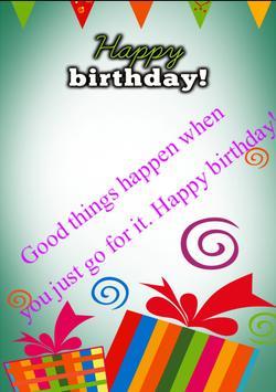 Happy Birthday Card &Wish quotes-Photo Frames 2017 screenshot 9