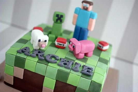 Birthday Cake Minecraft Ideas screenshot 2