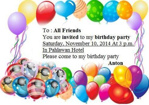 Birthday invitation example for android apk download birthday invitation example screenshot 3 stopboris Choice Image